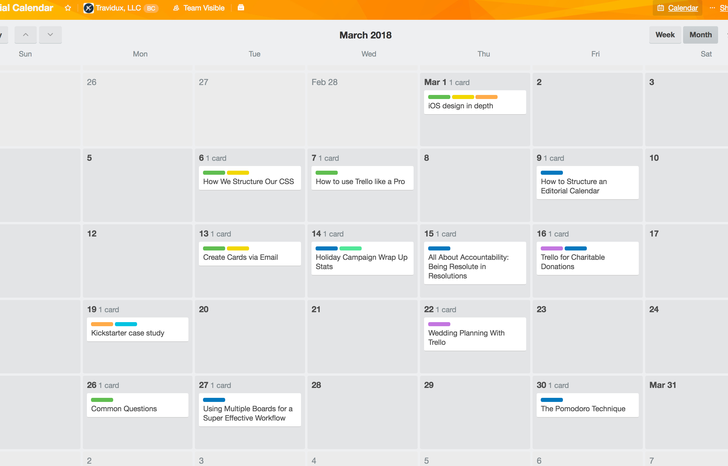 trello power up calendar