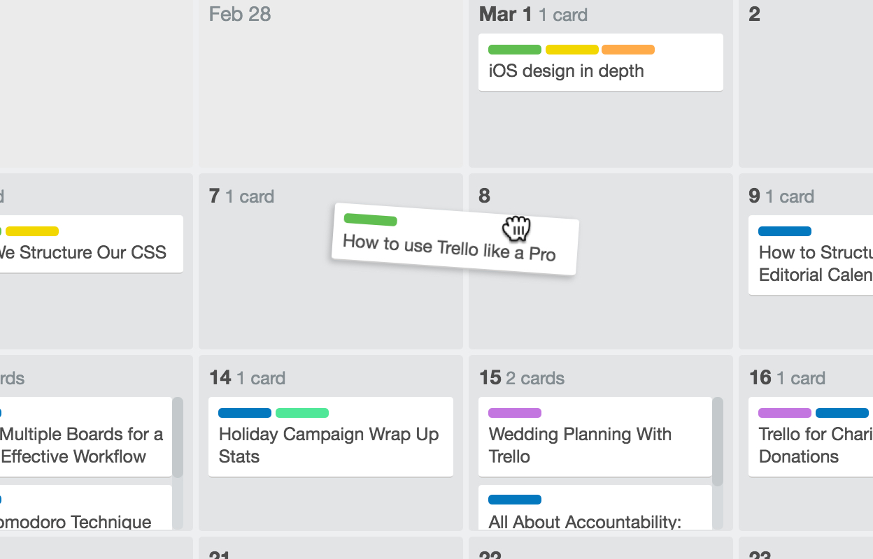 how to add a calendar to trello